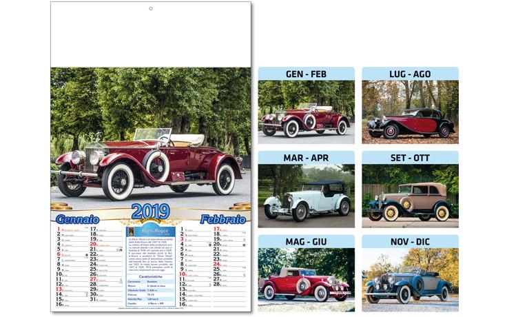Calendario Auto.Calendario Auto D Epoca